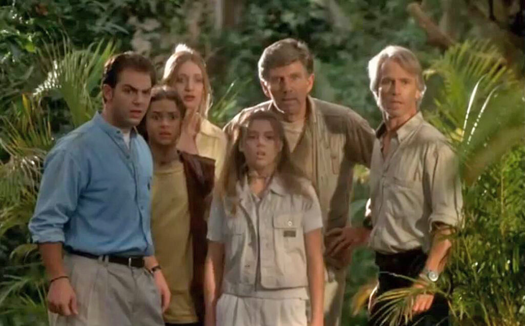 "Michael Beck and James Hereth in ""Jungle Book: Lost Treasure"""