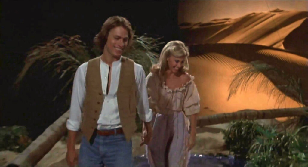 "Olivia Newton-John and Michael Beck in ""Xanadu"""