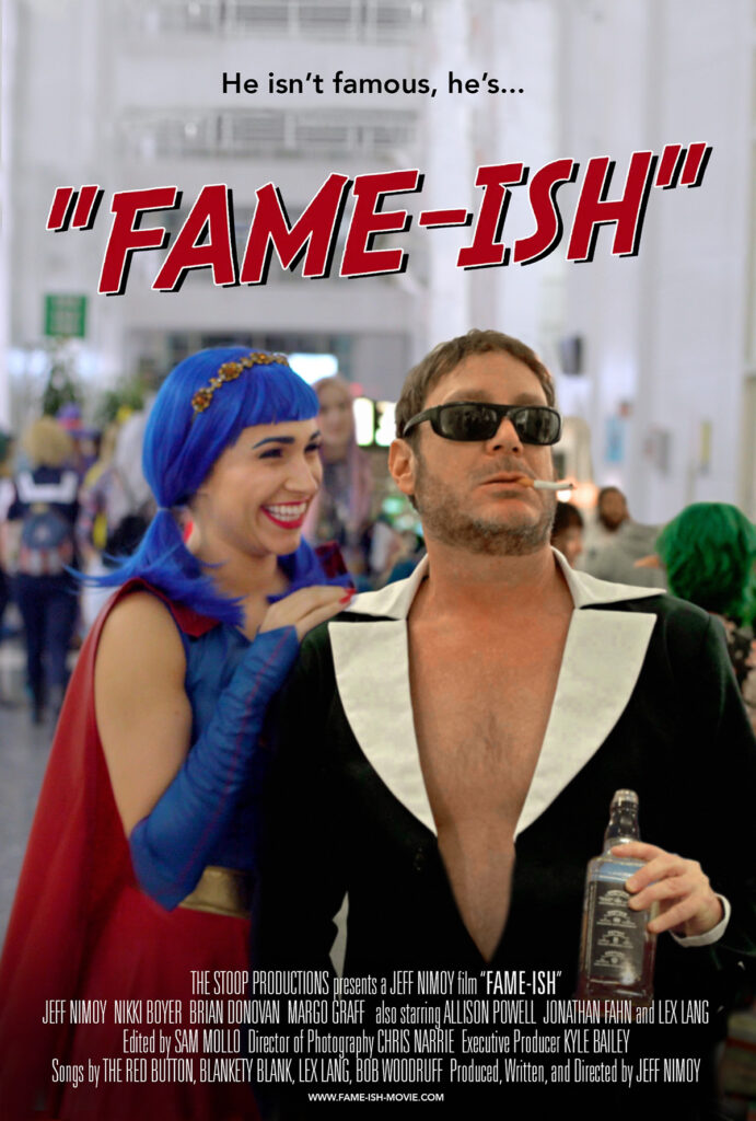FAME-ISH movie poster with Jeff Nimoy and Margo Graff at an anime Con.