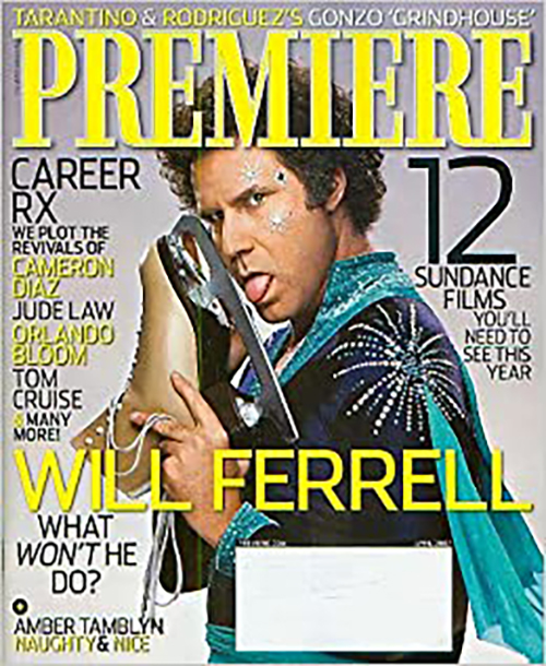 """Final print edition of Premiere Magazine in April 0f 2007, featuring Will Ferrell from """"Blades of Glory."""""""