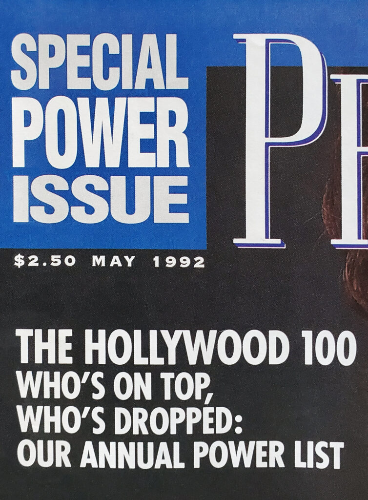Premiere Magazine Special Power Issue - May 1992.